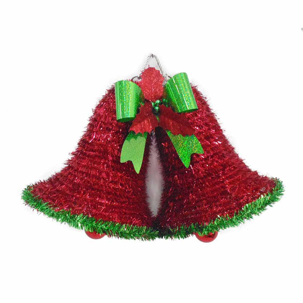 11 in. Tinsel Bells Wall Hanging