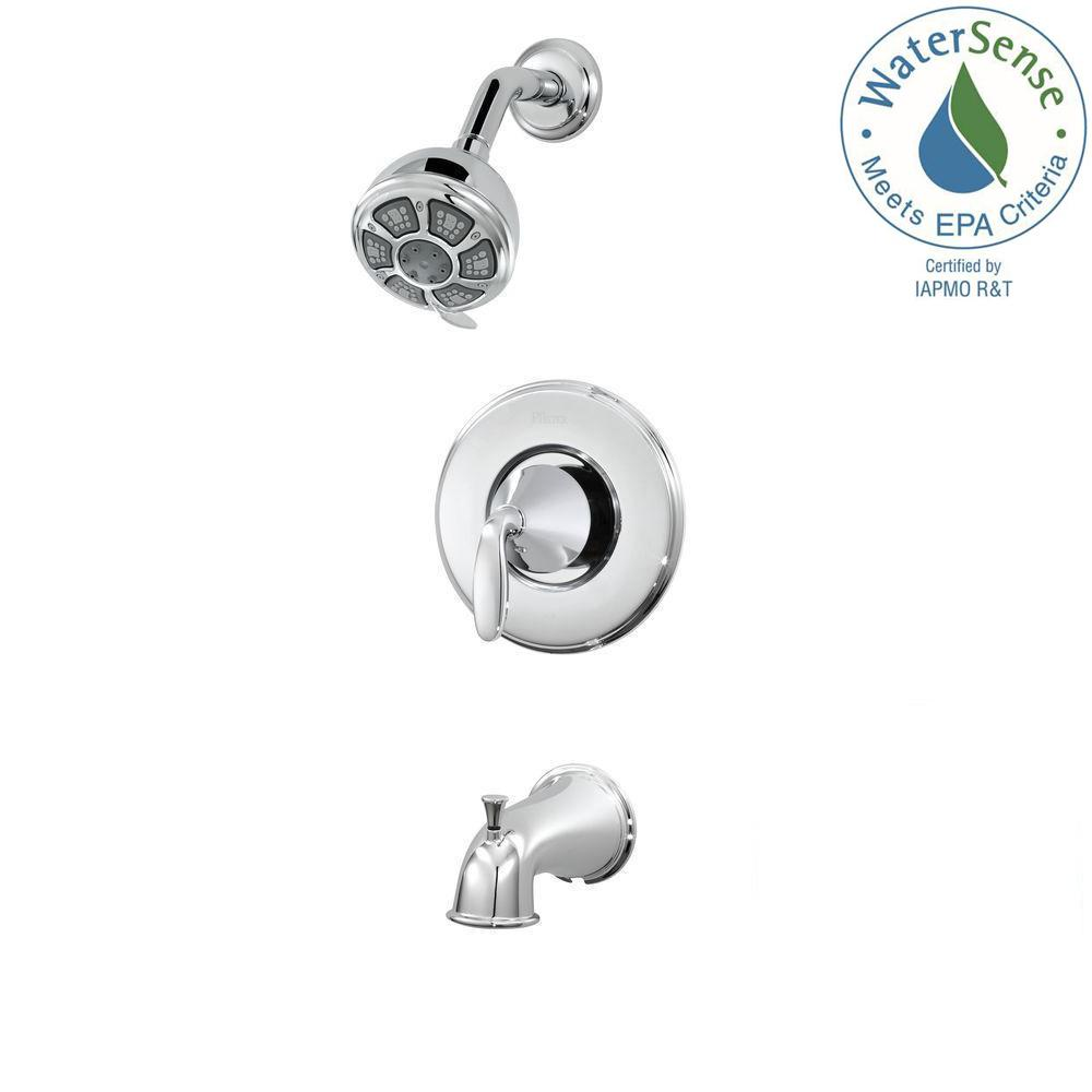 Pasadena Single-Handle 3-Spray Tub and Shower Faucet in Polished Chrome (Valve