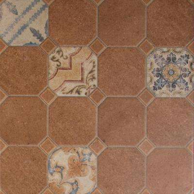 Mattonelle Rosso 21 in. x 21 in. Glazed Ceramic Floor and Wall Tile (24.48 sq. ft. / case)