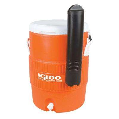 Sport 10 Gal. Orange Beverage Jug with Cup Dispenser