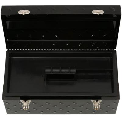 20 in. Tread Plate Metal Portable Tool Box