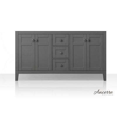 Maili 59 in. W x 18 in. D Vanity Cabinet Only in Sapphire Gray