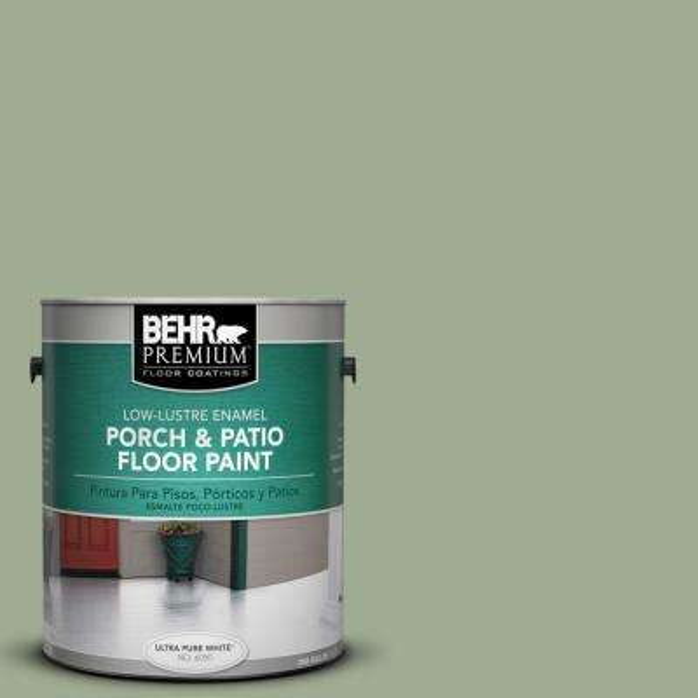 1 gal. #S390-4 Roof Top Garden Low-Lustre Porch and Patio Floor Paint
