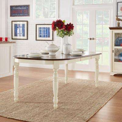 Anna Antique White Extendable Dining Table