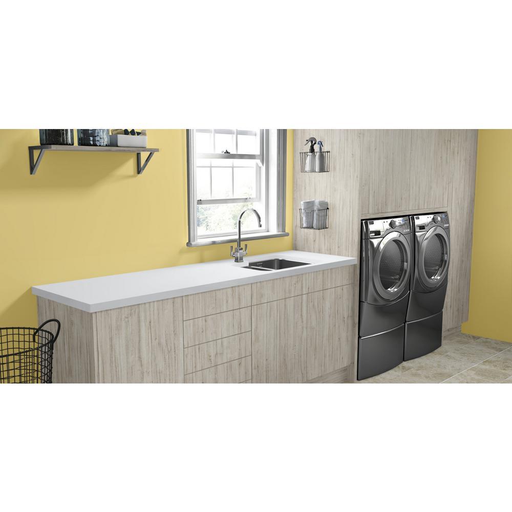 Wilsonart 2 In X 3 In Laminate Countertop Sample In Designer White With Standard Matte Finish Mc 2x3d35460 The Home Depot