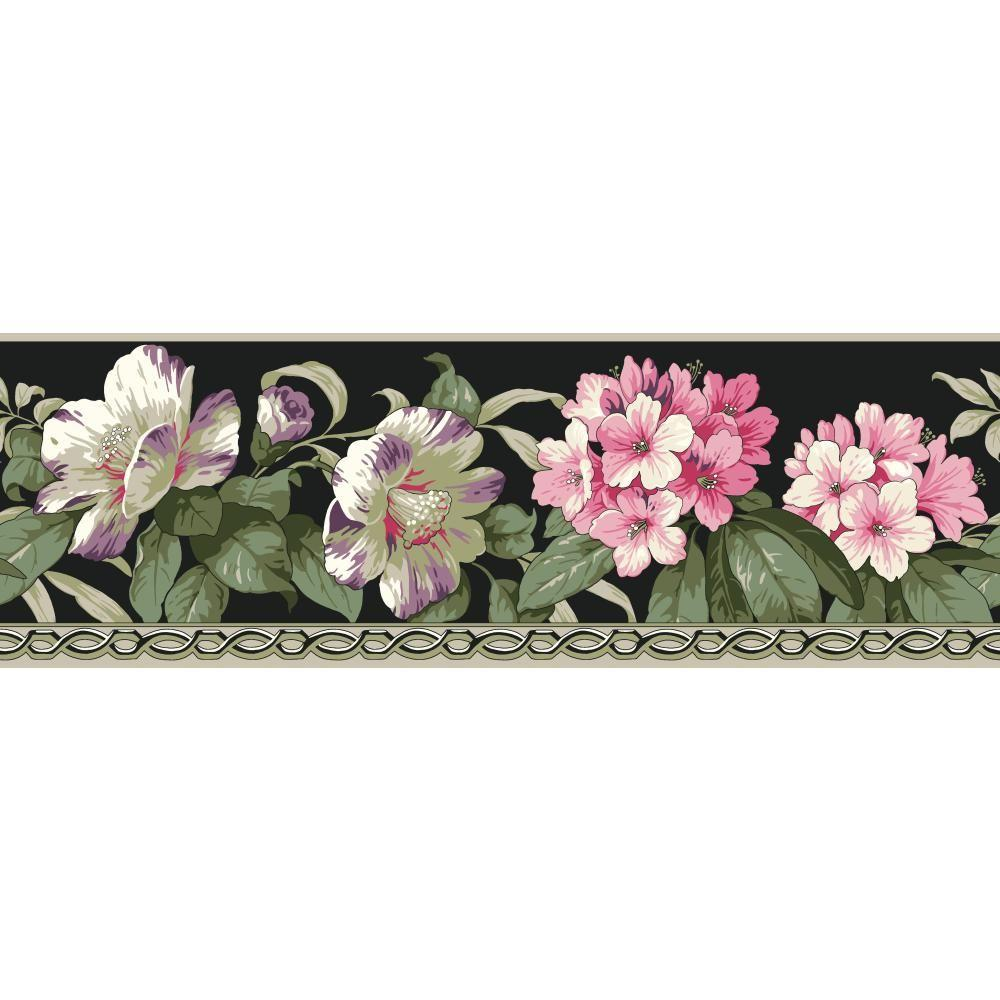 York Wallcoverings Casabella II Rhododendron Wallpaper Border