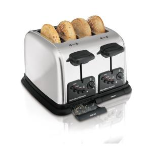 4-Slice Chrome Wide Slot Toaster with Automatic Shut-Off
