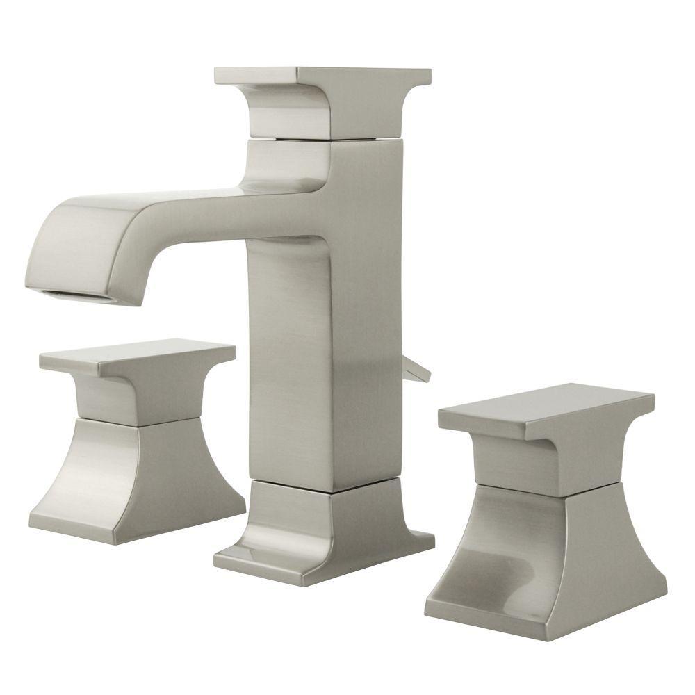 Teodoro 8 in. Widespread 2-Handle Mid Arc Bathroom Faucet in Brushed Nickel
