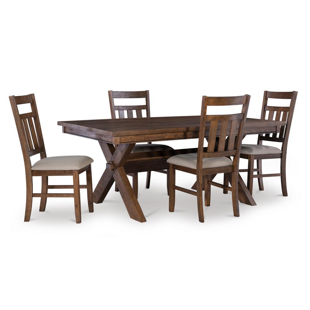 Krause Rustic Umber 5PC Dining Set
