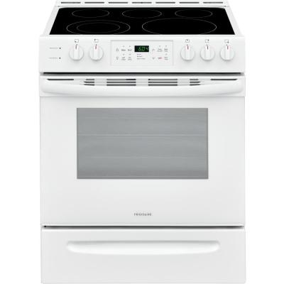 30 in. 5.0 cu. ft. Single Oven Electric Range with Self-Cleaning Oven in White