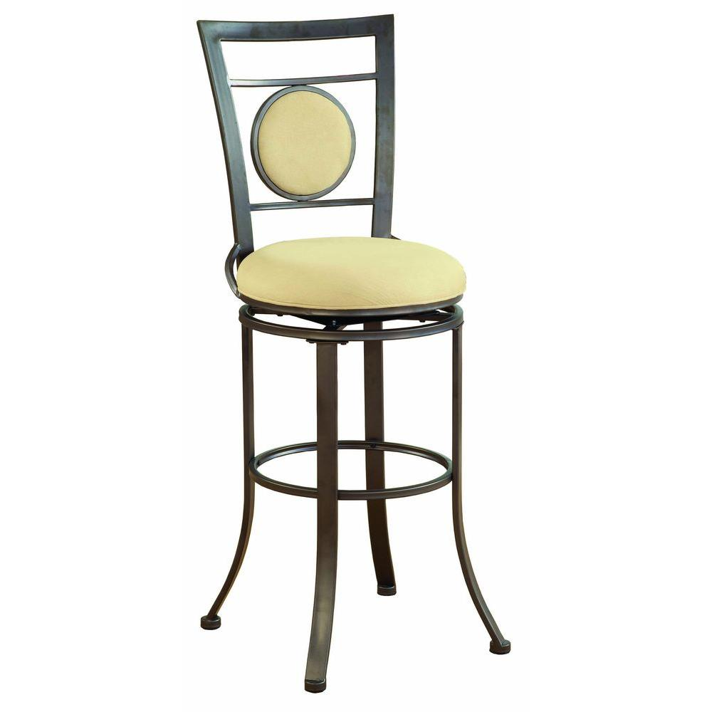 Hillsdale Furniture Harbour Point Swivel Single Circle Counter Bar Stool-DISCONTINUED