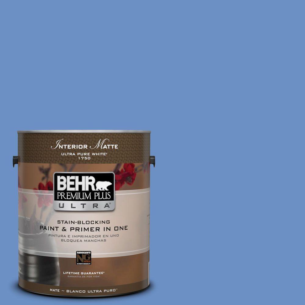 BEHR Premium Plus Ultra Home Decorators Collection 1 gal. #HDC-MD-02 Lapis Lazuli Flat/Matte Interior Paint