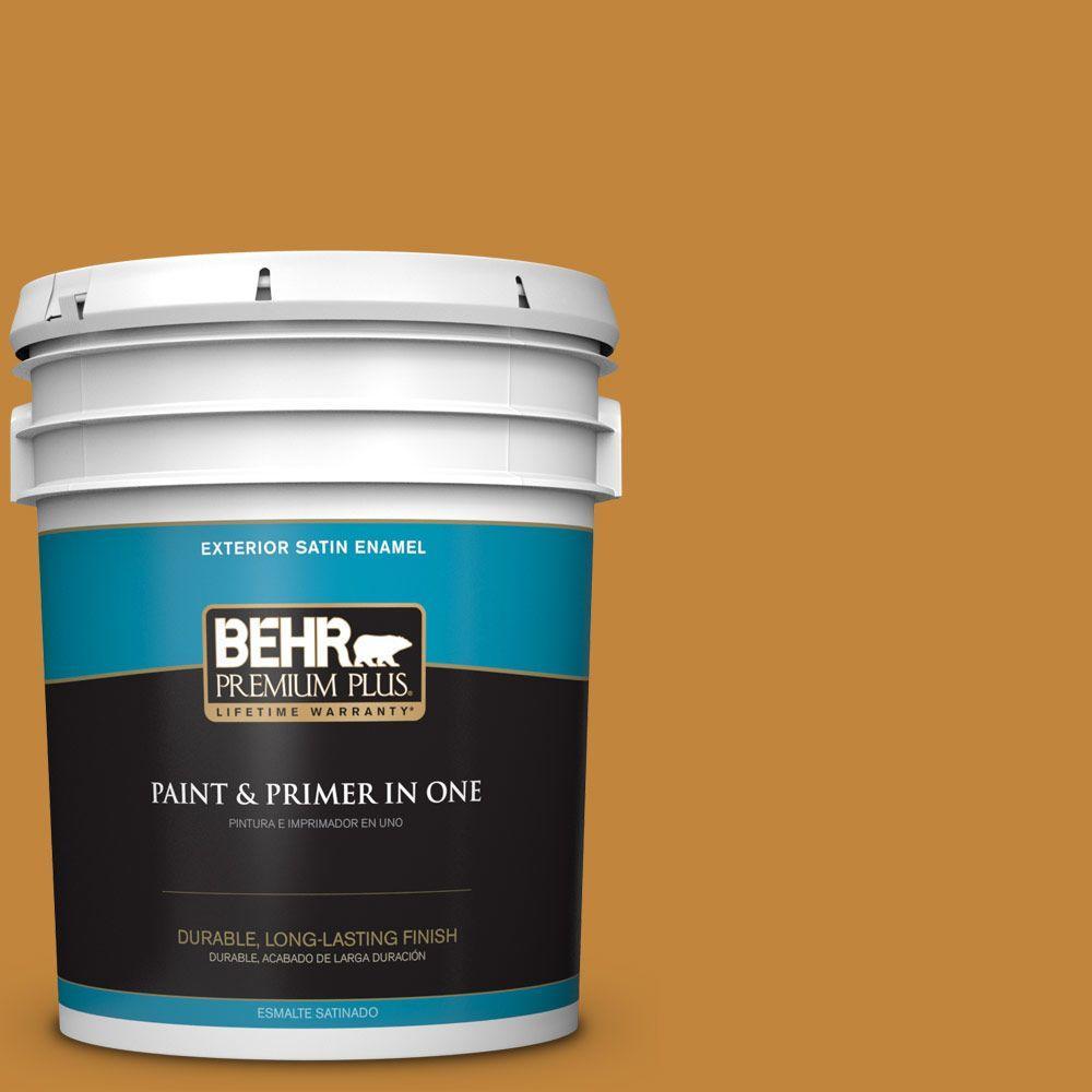 BEHR Premium Plus 5-gal. #M260-7 Back to School Satin Enamel Exterior Paint