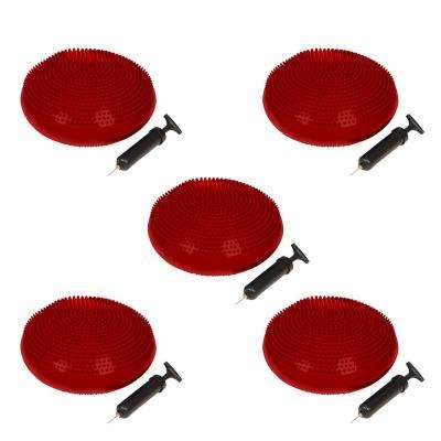 13 in. Dia PVC Fitness and Balance Disc - Red - (Set of 5)