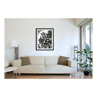 34.25 in. W x 42.25 in. H Monochrome Foliage II by PI Studio Printed Framed Wall Art