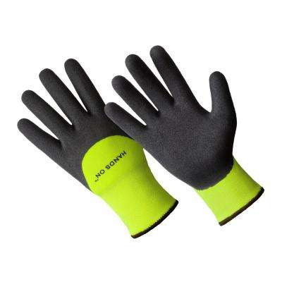 Men's Premium Lined Sandy Finish Nitrile Coated Glove