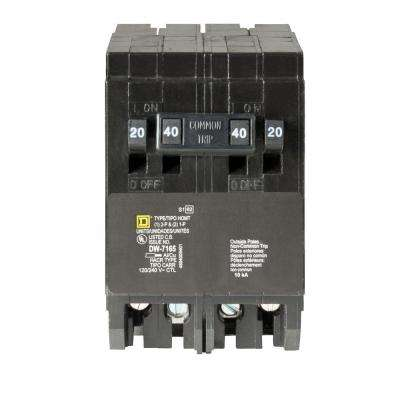 Homeline (2) 20 Amp Single-Pole (1) 40 Amp 2-Pole Quad Tandem Circuit Breaker