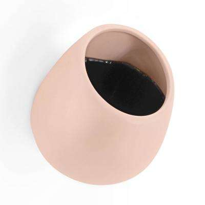 Round 5-1/2 in. x 6 in. Coral Ceramic Wall Planter