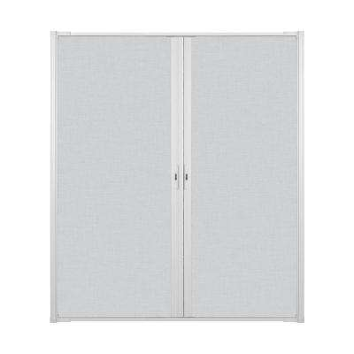 72 in. x 80 in. LuminAire White Retractable Screen Door