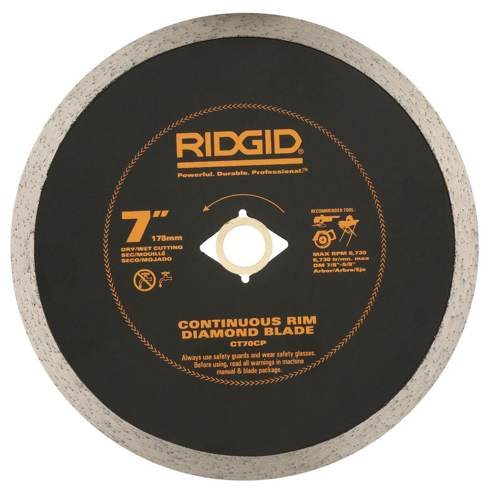 RIDGID 7 in. Continuous Diamond Blade