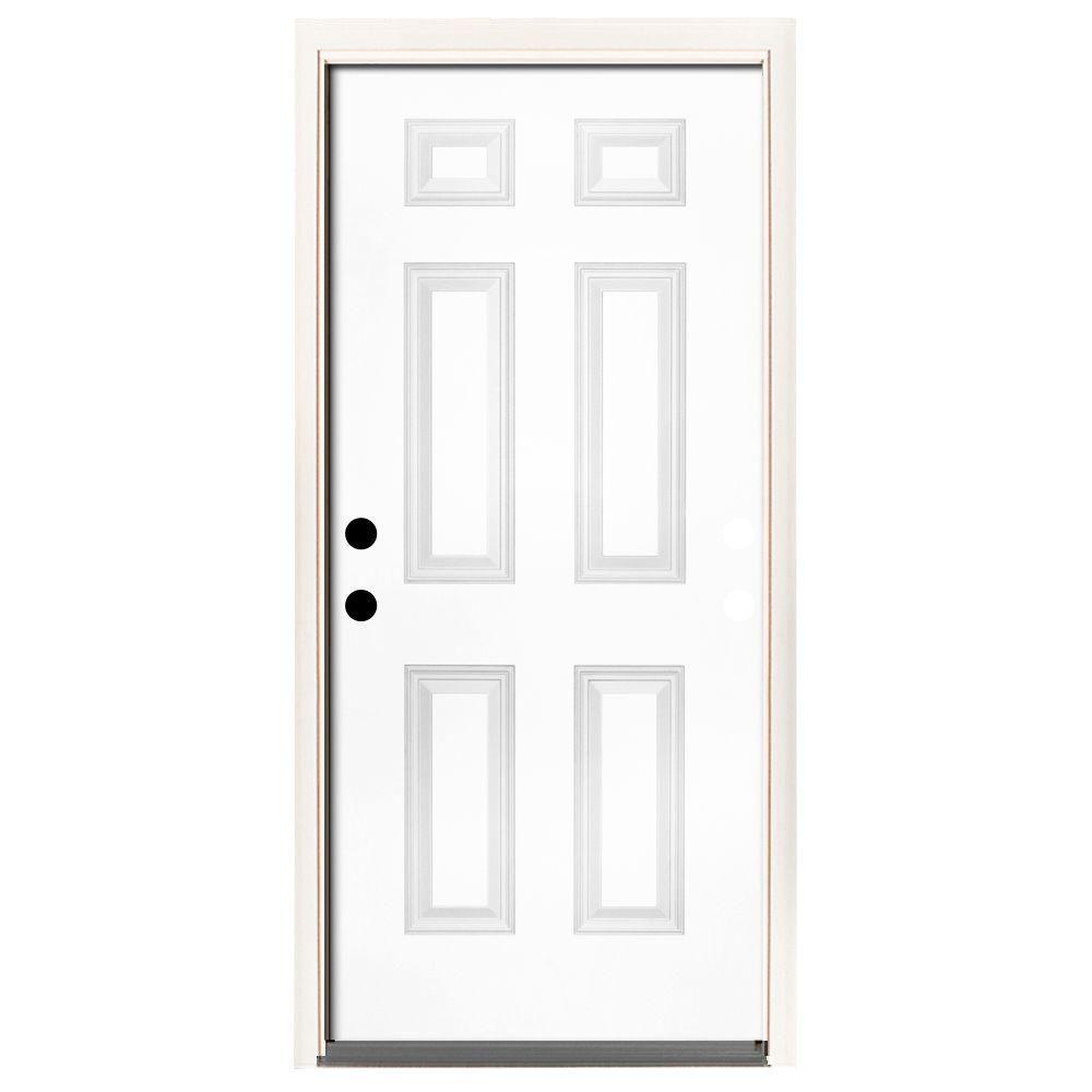 Exterior Prehung Doors Without Glass Steel Doors The Home Depot