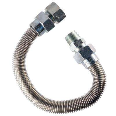 3/4 in. MIP x 3/4 in. FIP x 18 in. Gas Appliance Connector 1 in O.D.