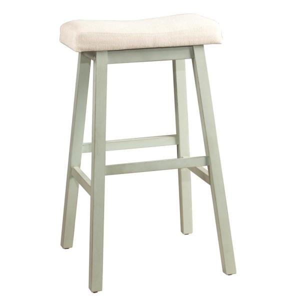 Hilale Furniture Moreno 24 In Blue Gray Non Swivel Backless Counter Stool