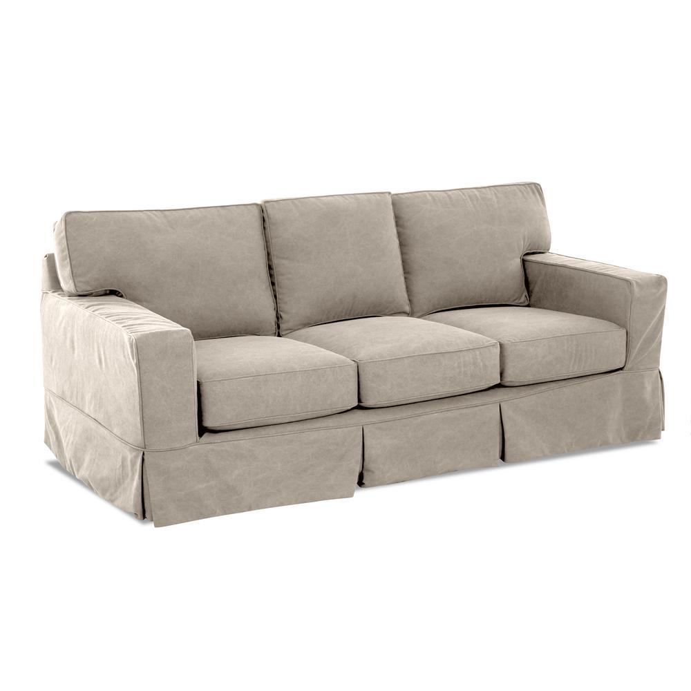 AVENUE 405 Marilyn Slipcovered Sofa in Linen ...