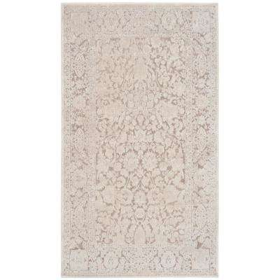 Reflection Beige/Cream 3 ft. x 5 ft. Area Rug