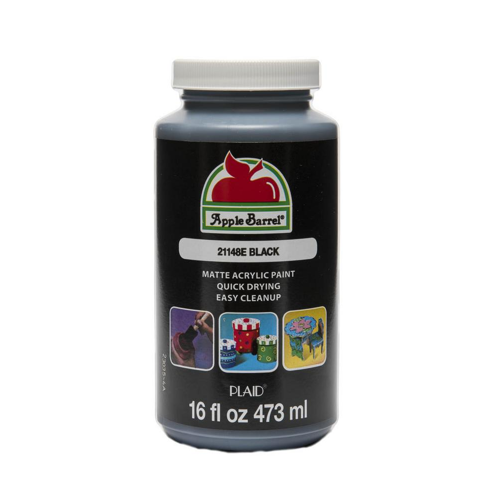 Le Barrel Colors 16 Oz Black Acrylic Paint