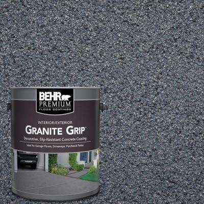 1 gal. #GG-05 Azul Diamond Decorative Flat Interior/Exterior Concrete Floor Coating