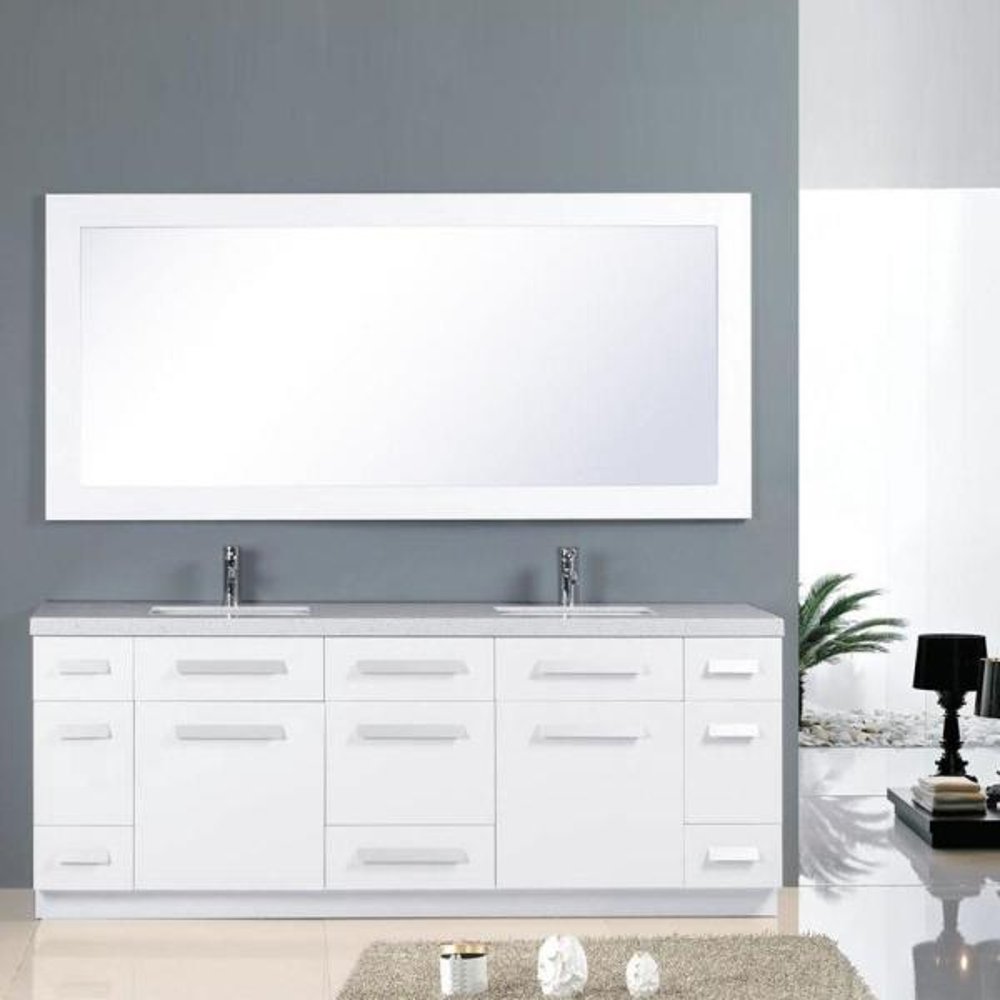 Double Vanity In White