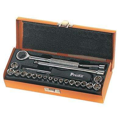 Inch and Metric Socket Set (21-Piece)