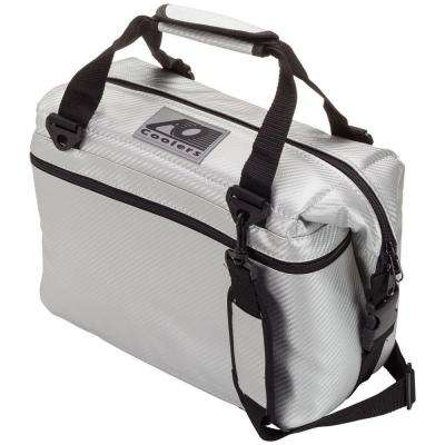 12 Qt. Soft Carbon Cooler with Shoulder Strap and Wide Outside Pocket