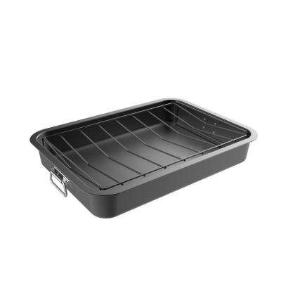 Heavy Duty Nonstick Roasting Pan with Angled Rack