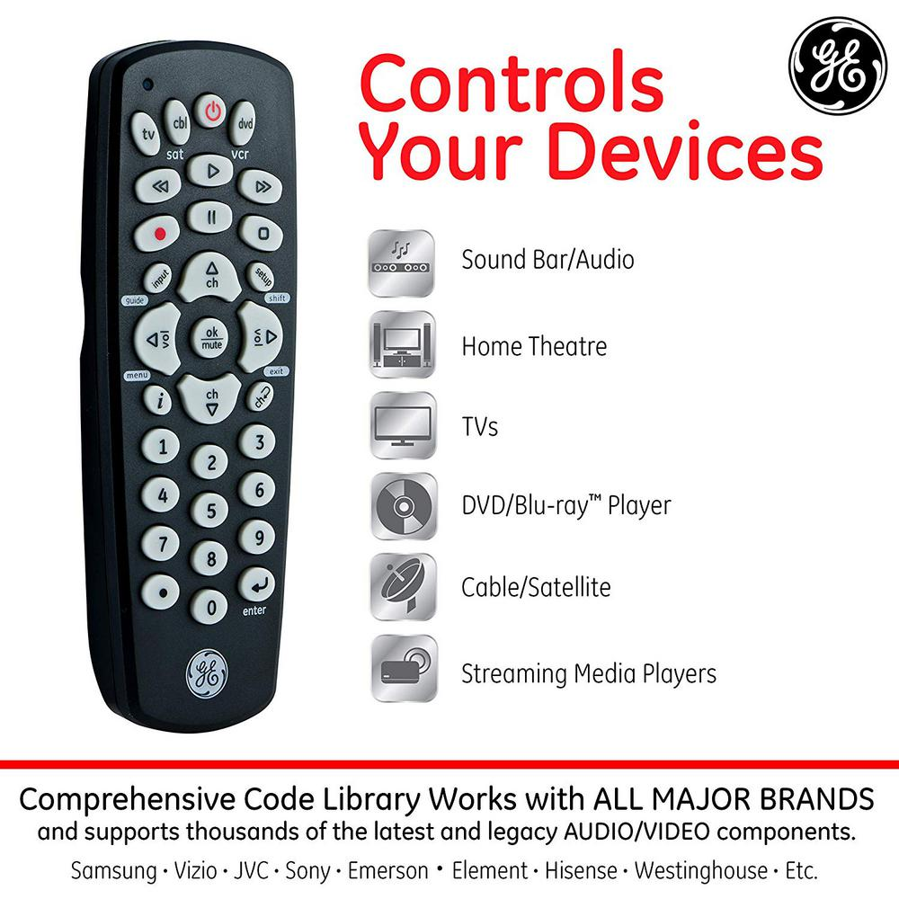 GE 3-Device Universal Remote Control