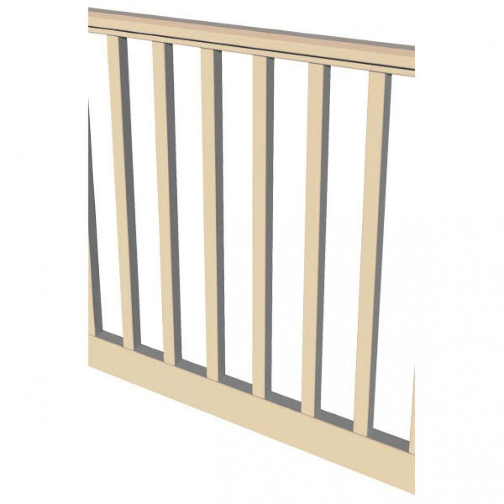 Original Rail 6 ft. x 36 in. Sand Vinyl Square Baluster