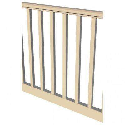 Original Rail 6 ft. x 36 in. Sand Vinyl Square Baluster Level Rail Kit