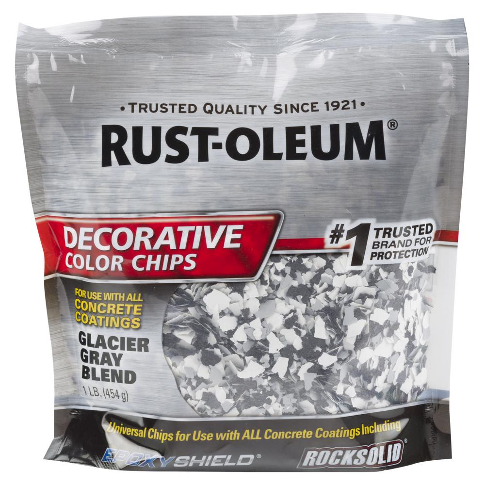 Rust-Oleum 1 lb  Glacier Gray Decorative Color Chips