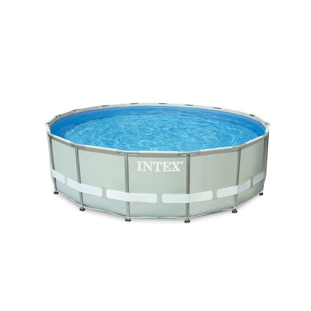 Intex 16 ft. x 48 in. Ultra Frame Pool Set with 1200 gal. Sand Filter Pump