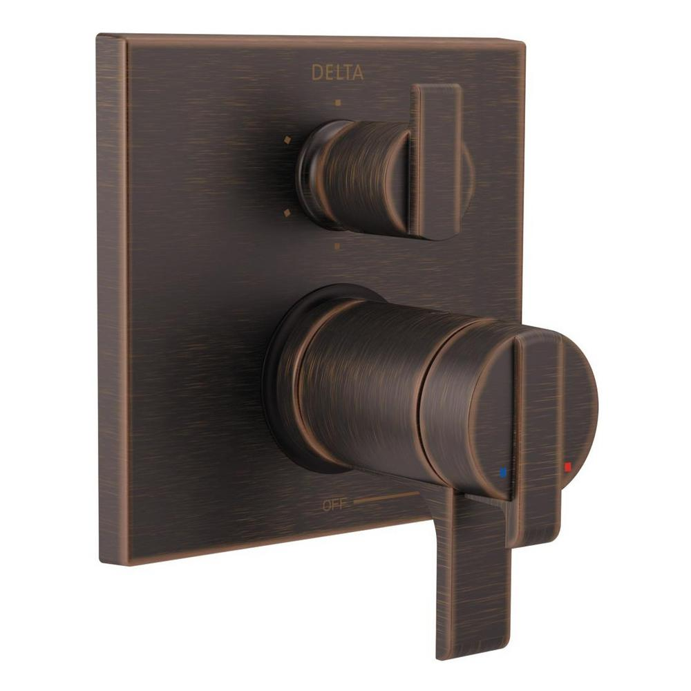 Delta 2-Handle Wall-Mount Valve Trim Kit with 6-Setting Integrated ...