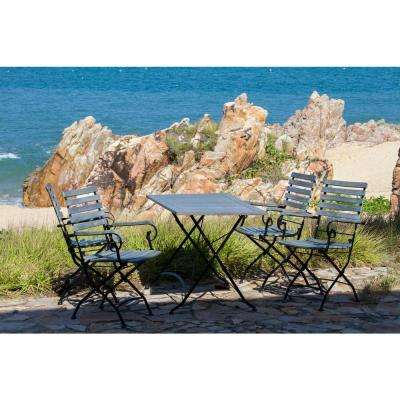 Lawndale Ash Grey 5-Piece Wood Outdoor Dining Set