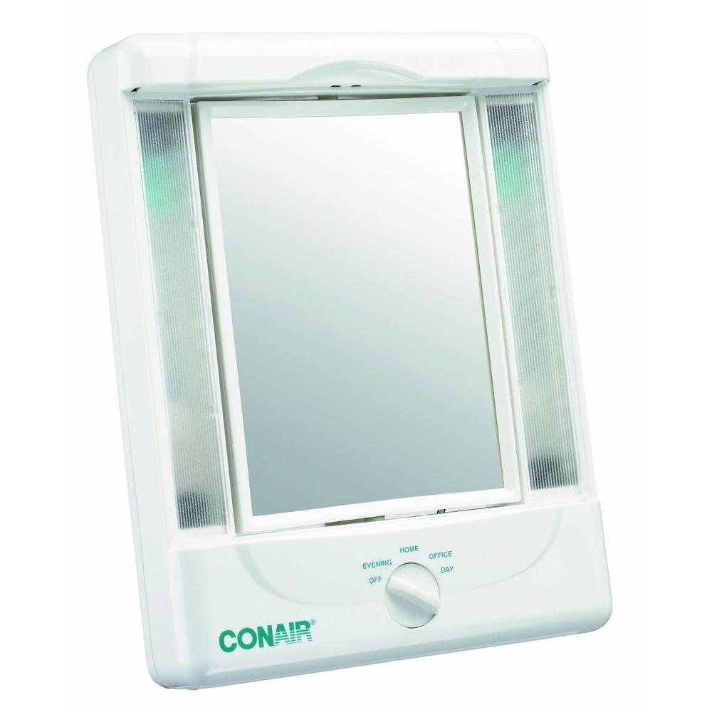 Double-Sided Lighted Mirror
