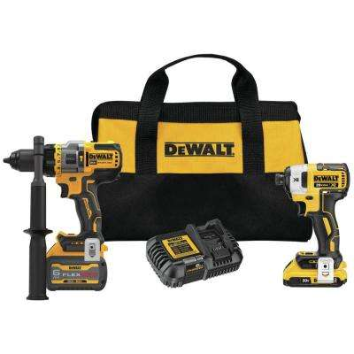 20-Volt MAX Lithium Ion Cordless Brushless Hammer Drill/Driver Combo Kit (2-Tool) with FLEXVOLT ADVANTAGE