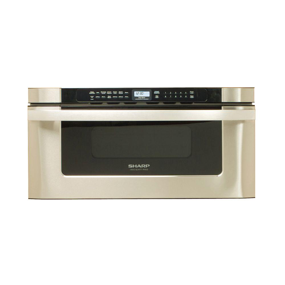 Sharp 30 in. W 1.2 cu. ft. Built-In Microwave Drawer in Stainless Steel with Sensor Cooking