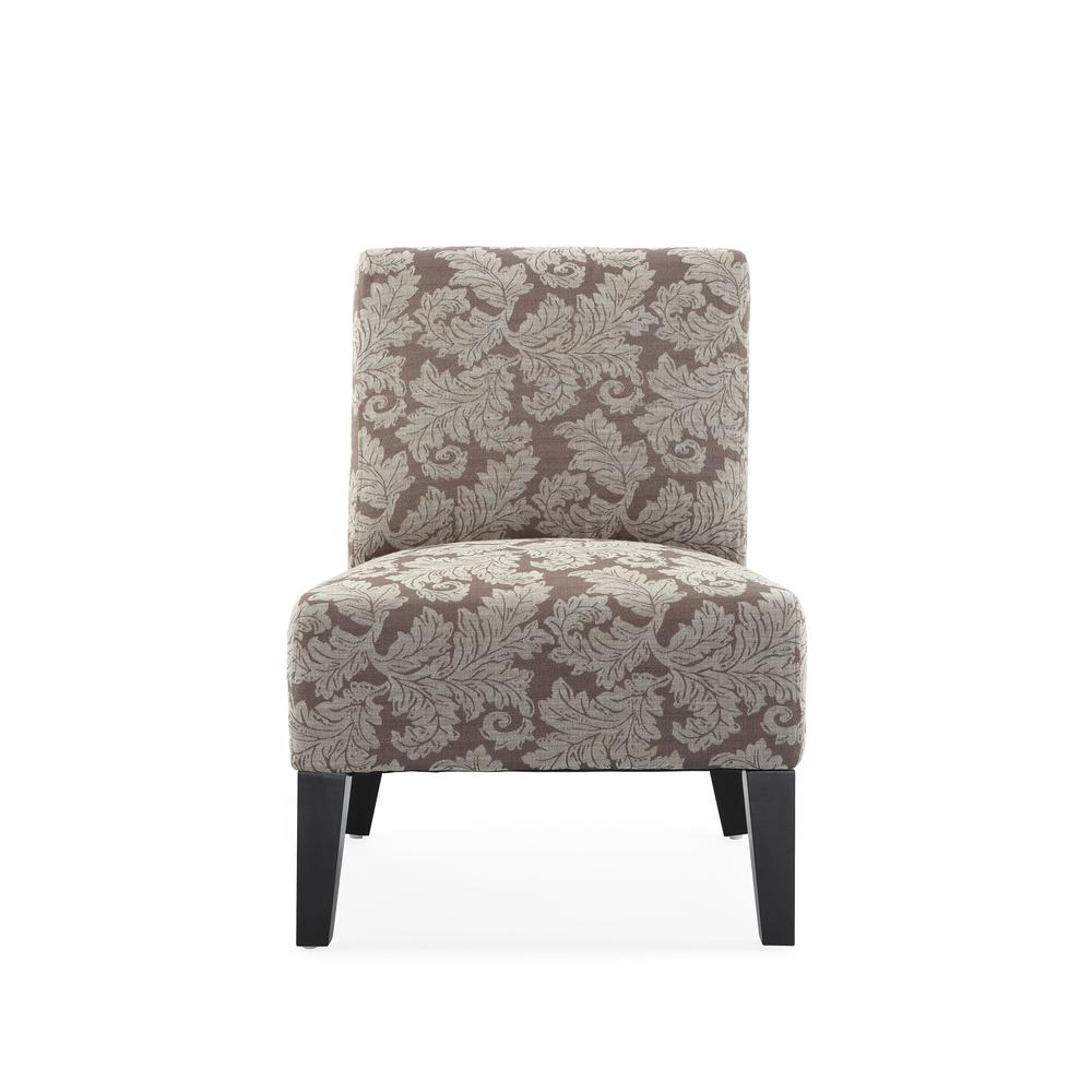 Monaco Taupe Fern Accent Chair