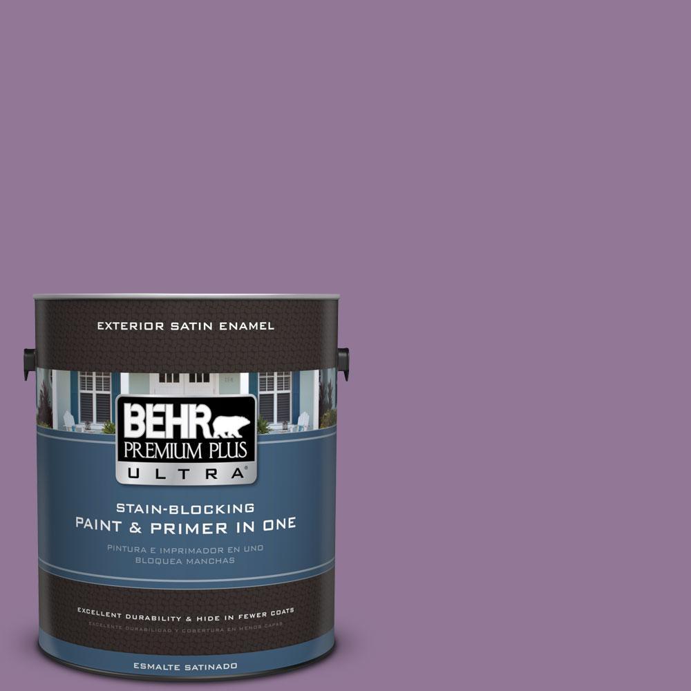 BEHR Premium Plus Ultra 1-gal. #M100-5 Passion Fruit Satin Enamel Exterior Paint
