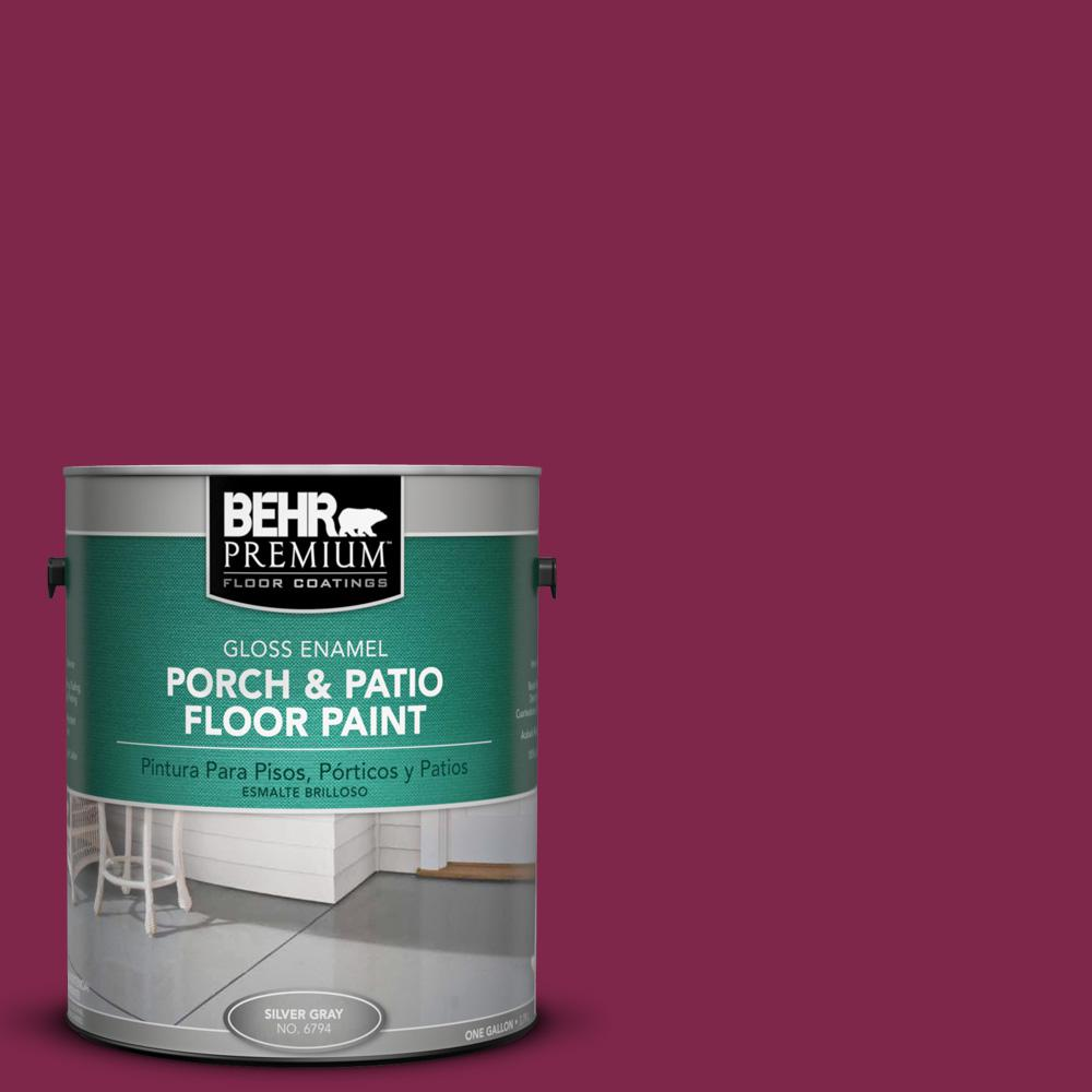1 gal. #120D-7 Ruby Red Gloss Porch and Patio Floor Paint