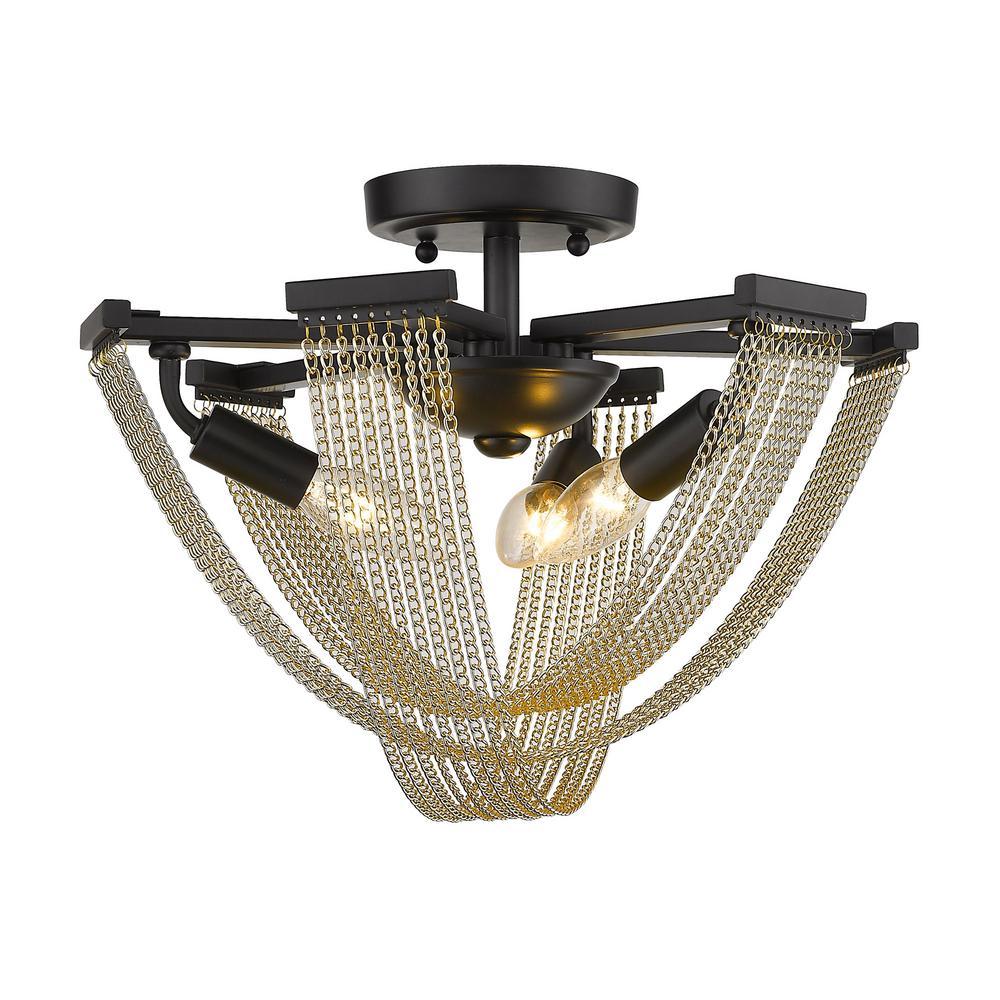 Samba 3-Light Semi-Flush