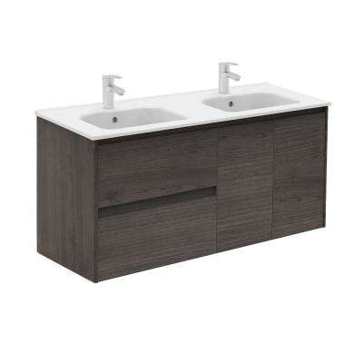 47.5 in. W x 18.1 in. D x 22.3 in. H Bathroom Vanity in Samara Ash with Vanity Top and Basin in White